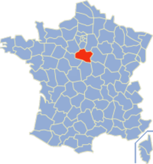 Communes of the Loiret department - Image: Loiret Position