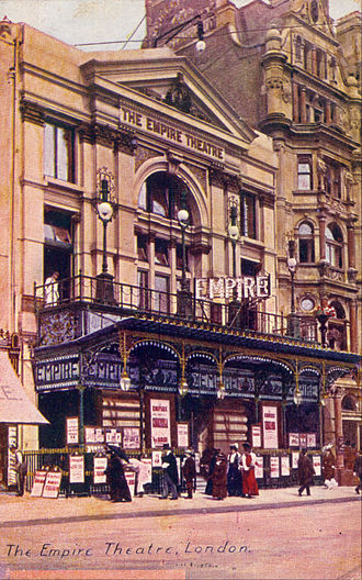 La Diva de l'Empire - Empire Theatre in Leicester Square, London, the eponymous setting of La Diva de l'Empire, c. 1905