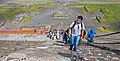Long view of tourists climbing stairs of Piramide del Sol, Teotihuacan.jpg