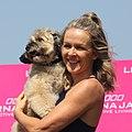 Lorna Jane Clarkson with pet dog Roger.jpg