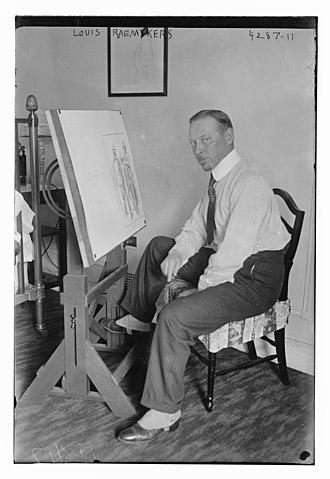 Louis Raemaekers - Image: Louis Raemaekers in his studio on July 28, 1917
