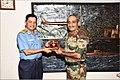 Lt Gen Satish Dua CISC presenting a Memento to Vice Adm HCS Bisht FOCINC ENC.jpg