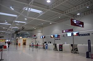Lublin Airport - Terminal interior.