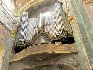 Organ in the Lublin Cathedral, Poland.