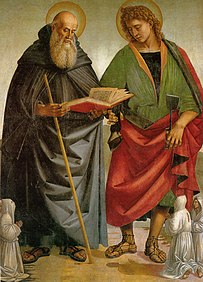 Luca signorelli, santi eligio e antonio, sansepolcro