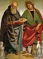 Luca signorelli, santi eligio e antonio, sansepolcro.jpg