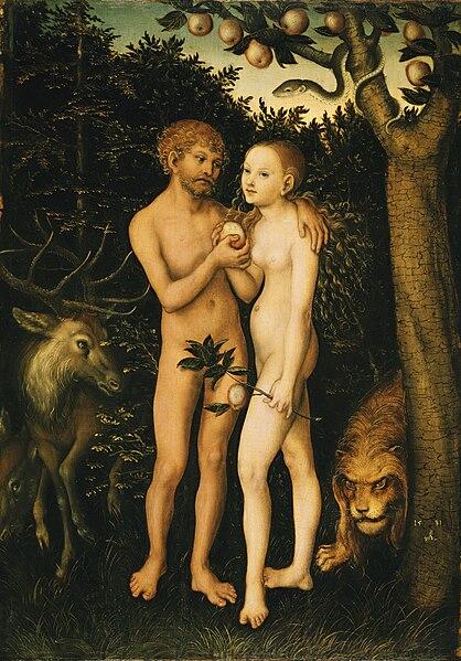 File:Lucas Cranach d.Ä. - Adam und Eva im Paradies (1531, Gemäldegalerie, Berlin).jpg
