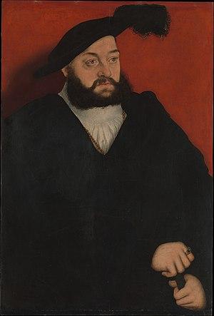 John, Hereditary Prince of Saxony - Portrait by Lucas Cranach the Elder, ca. 1537