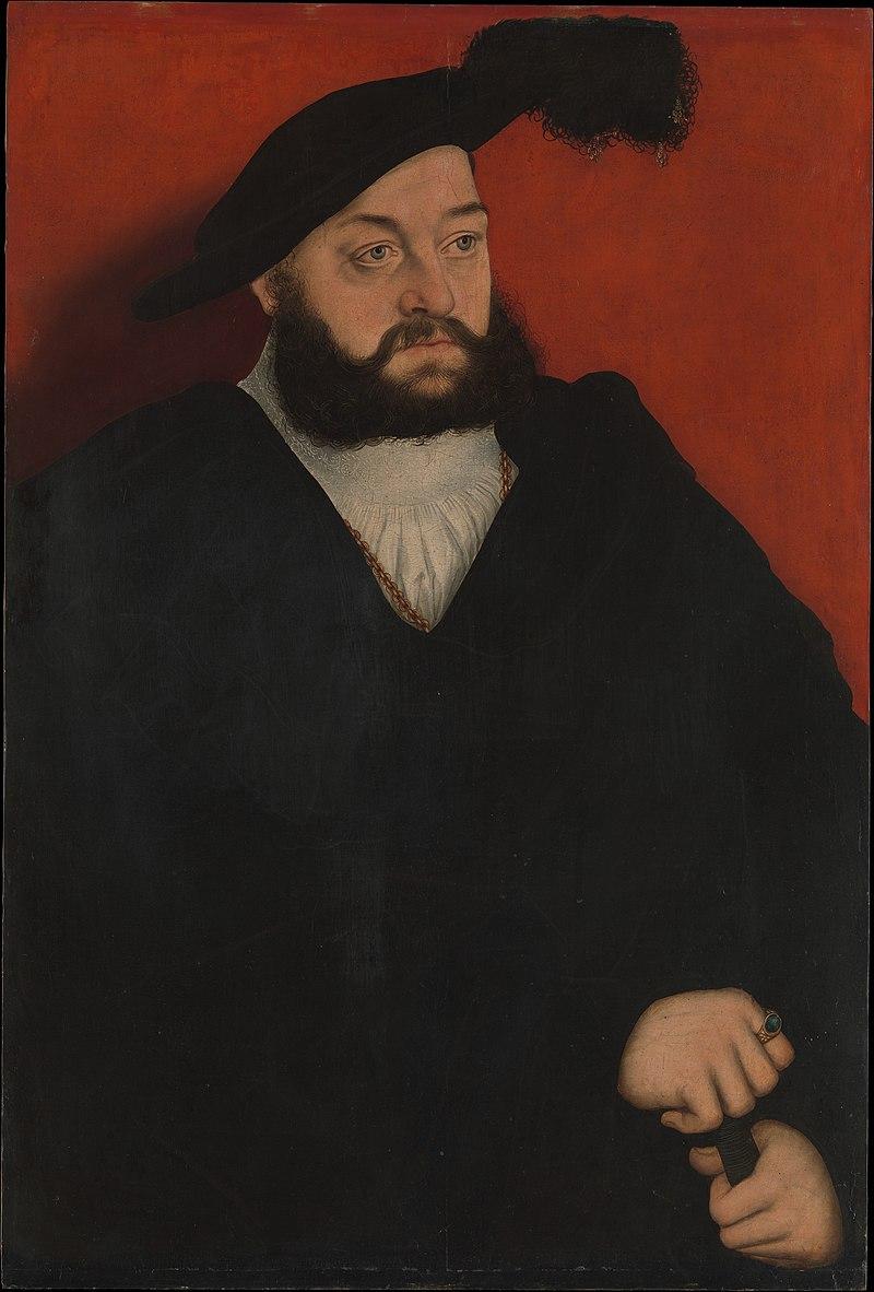 Lucas Cranach d.Ä. - Johann der Jüngere, Erbprinz vonSachsen.jpg