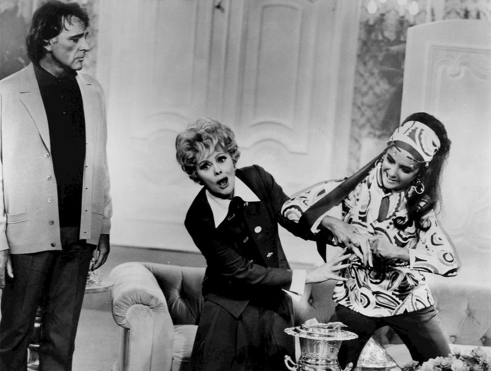 Lucille Ball Elizabeth Taylor Richard Burton Heres Lucy 1974