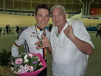 Lucjan Lis - Lucjan Lis with his son in 2010