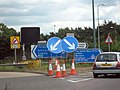 M42 - Junction 5 or Nine Signs, Seven Cones ^ A Car - geograph.org.uk - 2436506.jpg