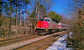 Fitchburg Line - An outbound train near West Concord in 2012