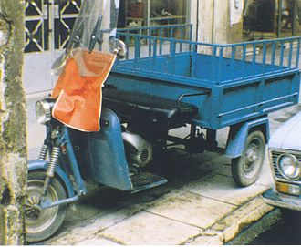 MEBEA - Half-scooter and half-truck: MEBEA flooded Greece with this light pick-up truck type in the 1960s and 1970s (also available with cab). Similar types were produced by other Greek companies.