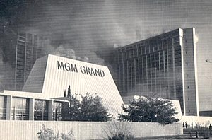 MGM Grand fire - Image: MGM Fire Pic 1