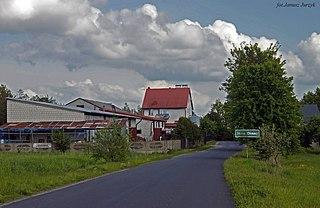 Stare Okniny Village in Masovian Voivodeship, Poland