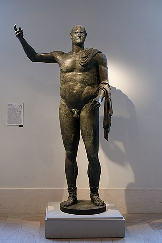 Trebonianus Gallus - Bronze of Gallus dating from the time of his reign as Roman Emperor, the only surviving near-complete full-size 3rd-century Roman bronze (Metropolitan Museum of Art)