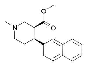 N,O-Dimethyl-4-(2-naphthyl)piperidine-3-carboxylate - Image: MMNPC
