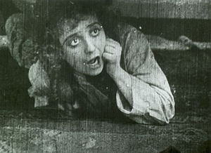 Mabel's Strange Predicament - Mabel Normand in a scene from the film
