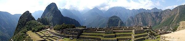Hi-Res Panoramic Photo of Machu Picchu.