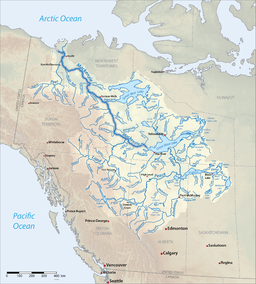 Mackenzierivermap-new.png. Map of the Mackenzie River watershed