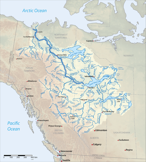 List Of Longest Rivers Of Canada Wikipedia - 5 major us rivers map