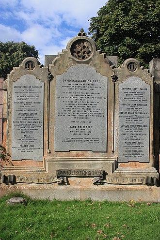 Andrew Douglas Maclagan - The Maclagan grave, Dean Cemetery, Edinburgh