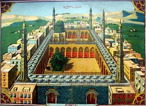 Medina - Old depiction of Medina during Ottoman times