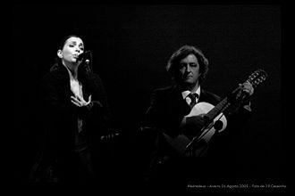Madredeus - Madredeus in a concert at Aveiro (2005).