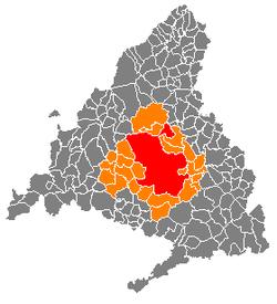 Resultado de imagen de madrid area metropolitana