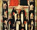 Maestro delle effigi domenicane, tavola del beato maurizio d'ungheria (santi e beati domenicani al cospetto di gesù e maria in trono), 1335-40 ca. 05.jpg