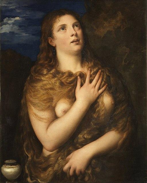 Magdalena penitente, por Tiziano