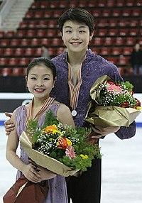 Maia Shibutani & Alex Shibutani Podium 2009 Junior Worlds.jpg