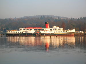 Caledonian Steam Packet Company - Paddle Steamer ''Maid of the Loch'' at Balloch Pier.