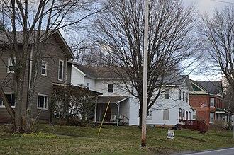 Corsica, Pennsylvania - Houses on Main Street