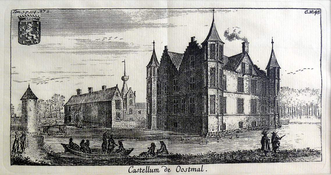 Engraving of the Oostmalle castle (1670). The castle was the property of the Renesse family.