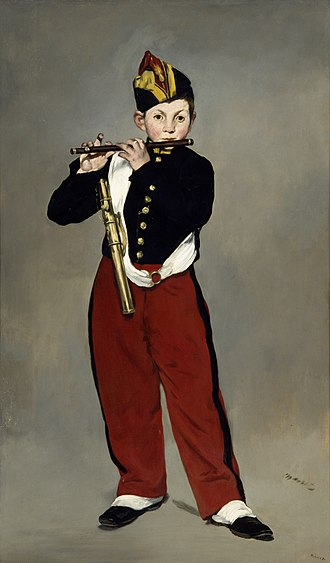 Fife (instrument) - Édouard Manet: Young Flautist, or The Fifer, 1866. Musée d'Orsay, Paris.