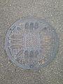 Manhole cover of Kitakyushu, Fukuoka.jpg