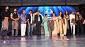 Manish Tewari and the Chief Minister of Goa, Shri Manohar Parrikar with the Bollywood actors at a felicitation ceremony, during the inauguration of the 44th International Film Festival of India (IFFI-2013), in Panaji, Goa.jpg