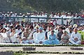 Manmohan Singh at the all religion prayer meeting on the 14th Martyrdom Day of the former Prime Minister Shri Rajiv Gandhi at Veer Bhoomi in Delhi on May 21, 2005.jpg