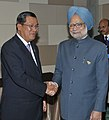 Manmohan Singh with the Prime Minister of Cambodia, Mr. Hun Sen, at a Bilateral Meeting, on the sidelines of the 9th ASEAN-India Summit and the 6th East Asia Summit, in Bali, Indonesia on November 18, 2011.jpg