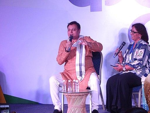 Manoj Joshi and Meena Kaknik, at IFFI Goa, 2017
