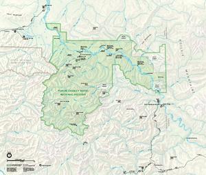 Yukon–Charley Rivers National Preserve - Image: Map of Yukon Charley Rivers National Preserve