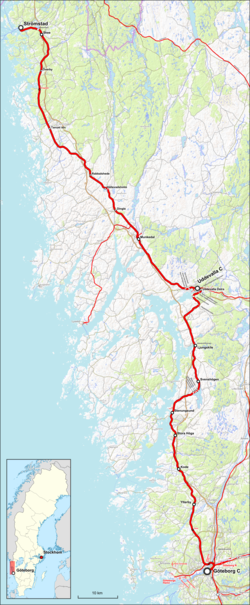 Karta Vastkusten Bohuslan.Bohusbanan Wikipedia