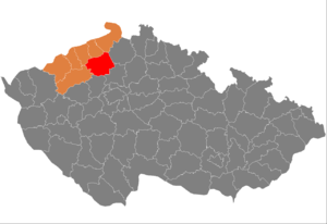 Vị trí huyện Litoměřice trong vùng Ústí nad Labem trong Cộng hòa Séc