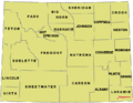 Map Wyoming counties USA 90311.png