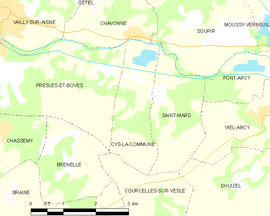 Mapa obce Cys-la-Commune