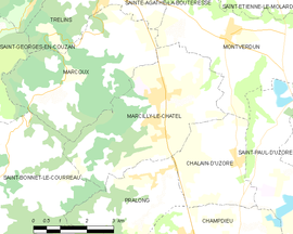 Mapa obce Marcilly-le-Châtel