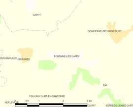 Mapa obce Fontaine-lès-Cappy