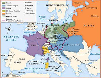 La nouvelle Europe de 1815.